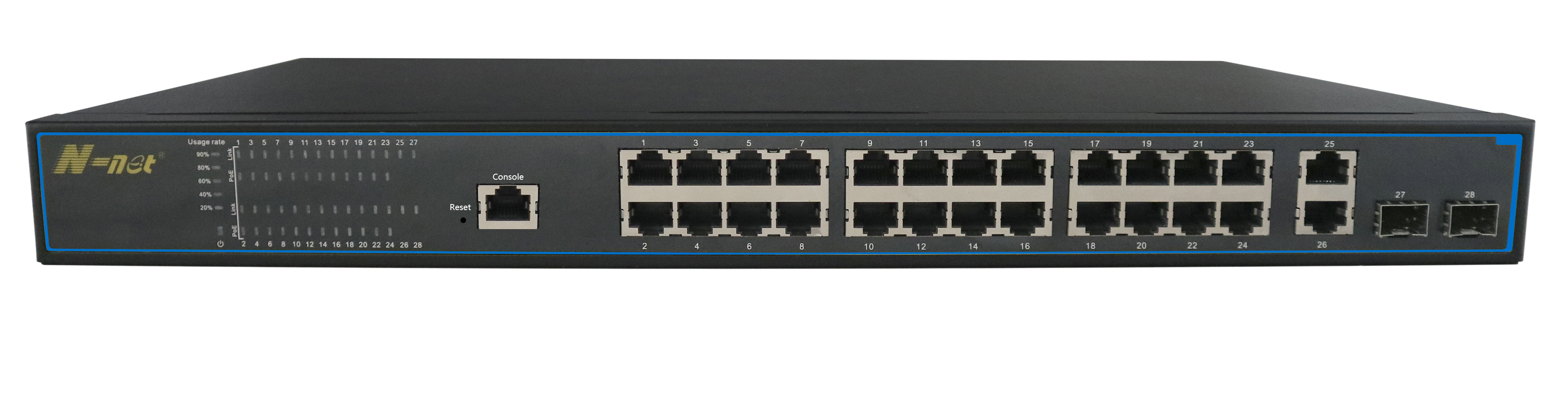 NC3244PGM   28 port L2 managed PoE switch